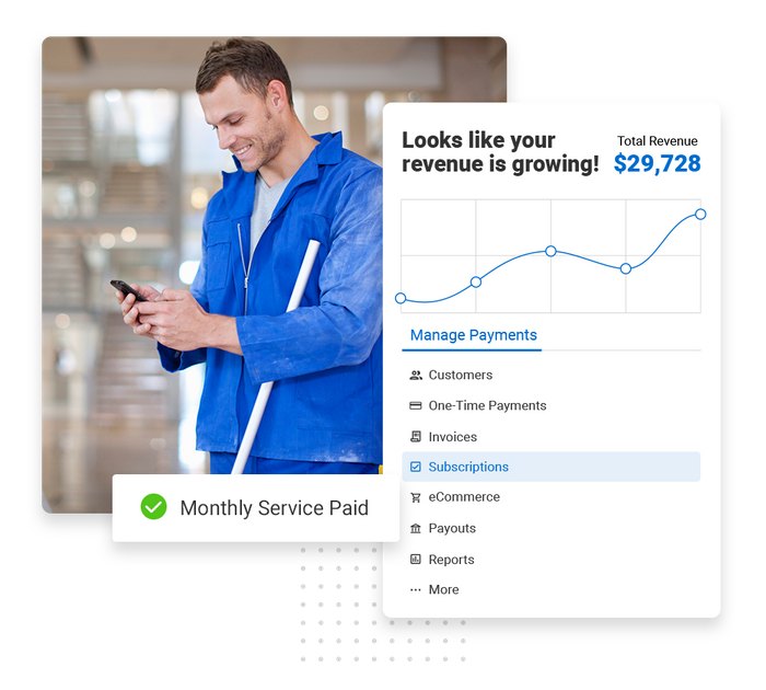 House cleaning payments software