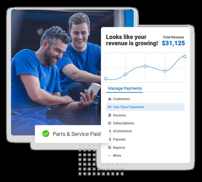 Auto shop payments software