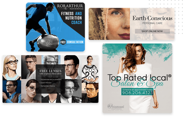 Professionally designed website banners