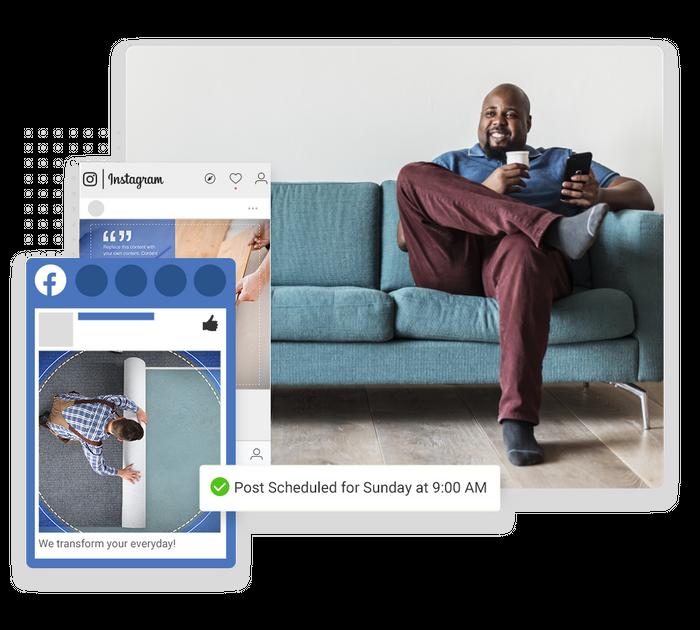 Flooring social media marketing