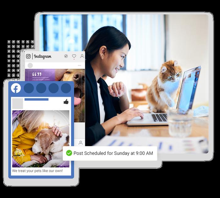 veterinarian social media marketing