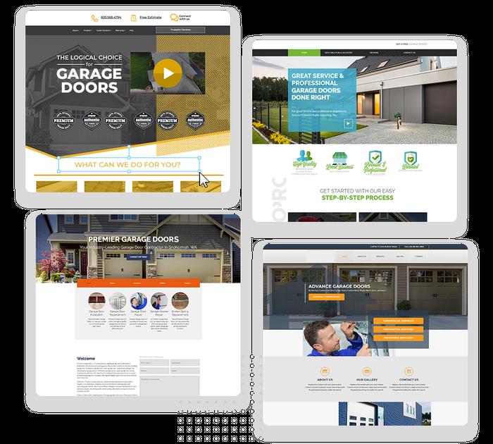 Garage door contractor websites