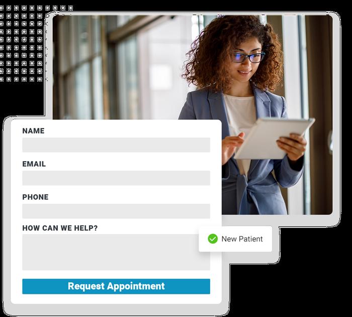 Optometrist website forms