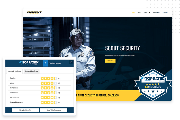 Top Rated Local® trust badge security website