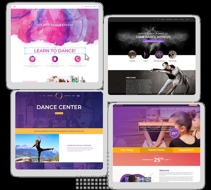 Dance studio websites