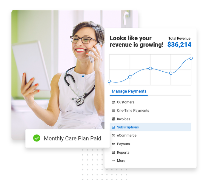 Assisted living payments software