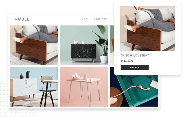 E-commerce website and product page