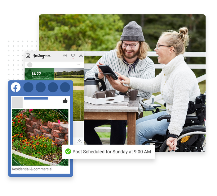 landscaper social media marketing