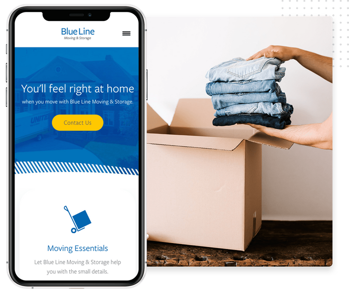 Mobile moving company website
