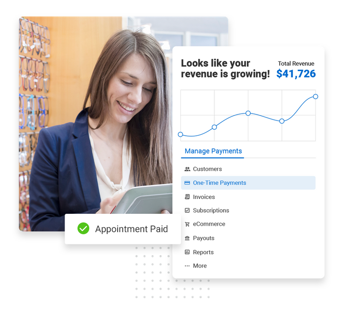 Eye doctor payments software