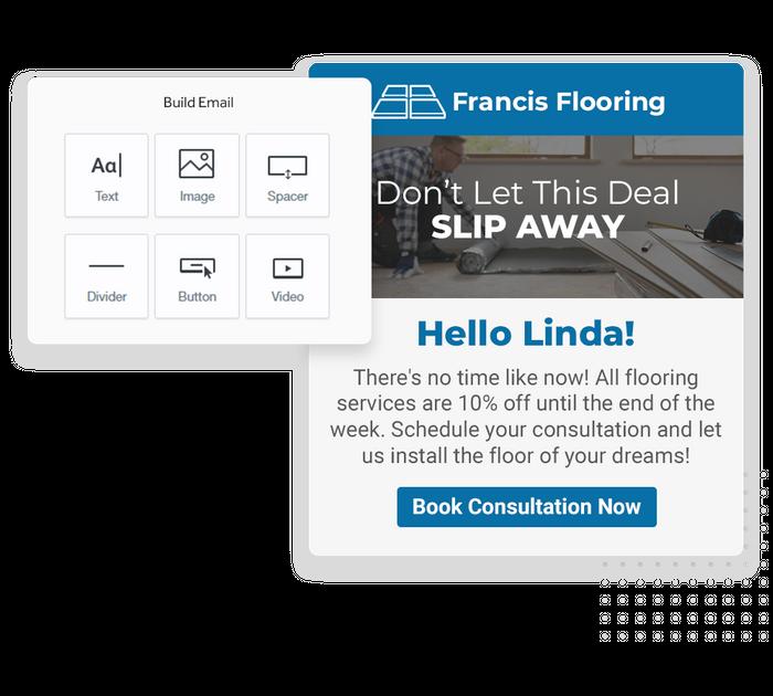 Flooring email marketing