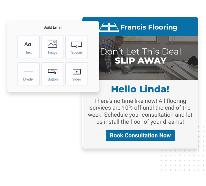 Flooring email marketing