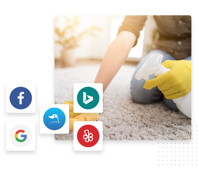 Carpet cleaning listings management