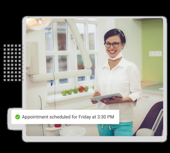 Dentist scheduling software