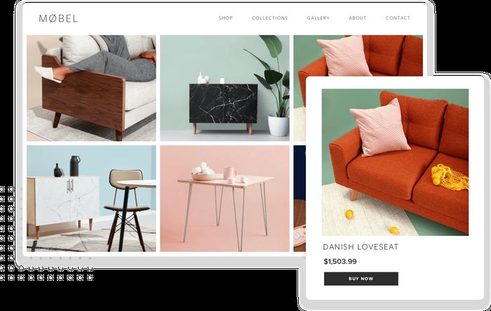 Danish loveseat product page