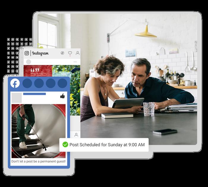 pest control social media marketing