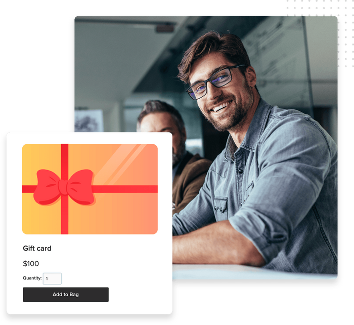 Gift card product page
