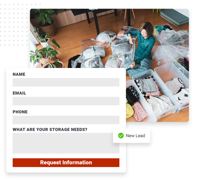 self storage website forms
