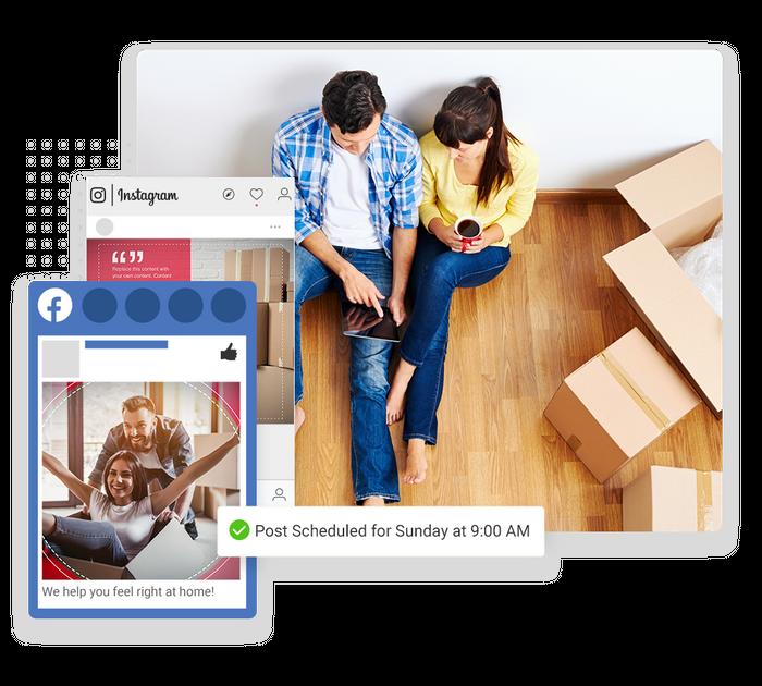 moving company social media marketing