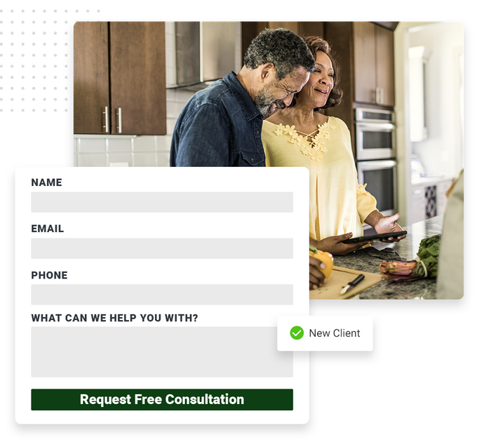 Financial website forms