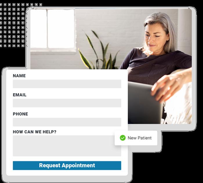 Chiropractor website forms