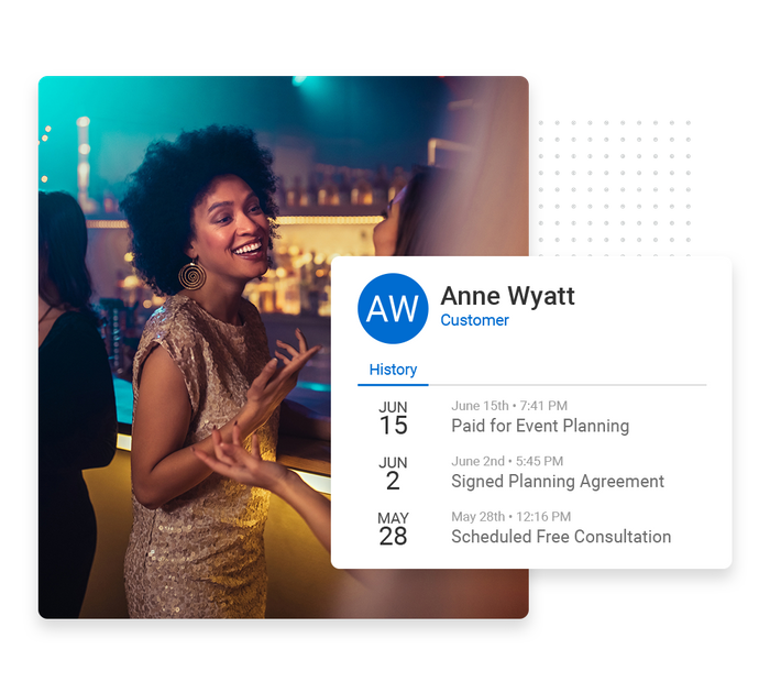 Event planner CRM