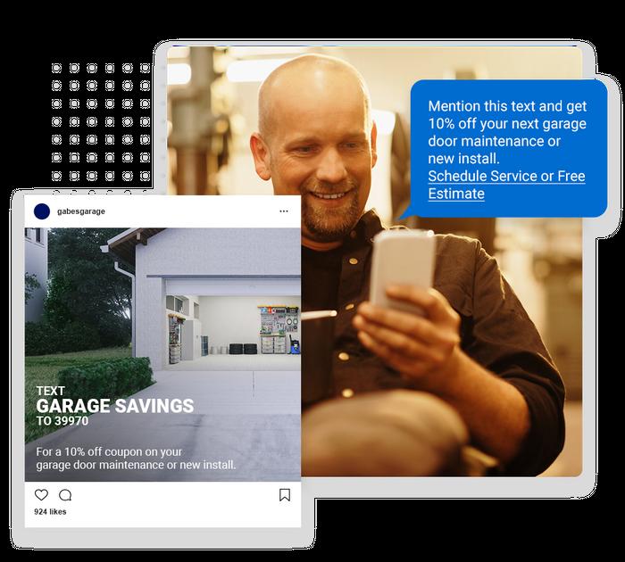 Garage door contractor text message marketing