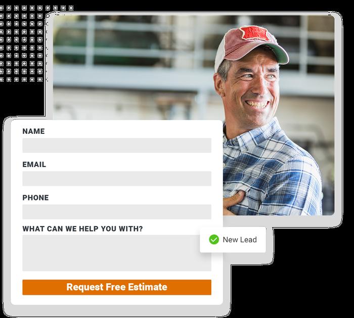 Garage door contractor website forms