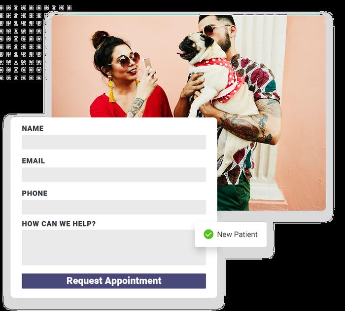 veterinarian website forms