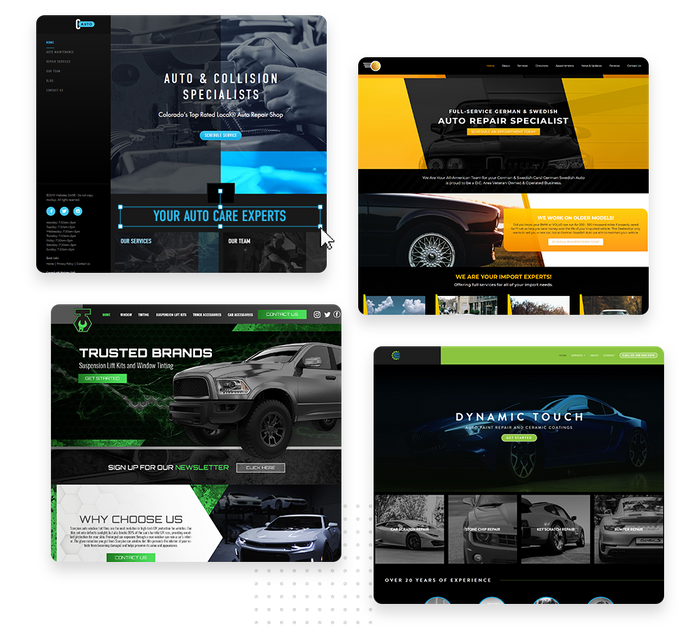 Auto shop websites