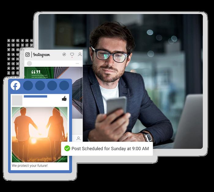Financial social media marketing