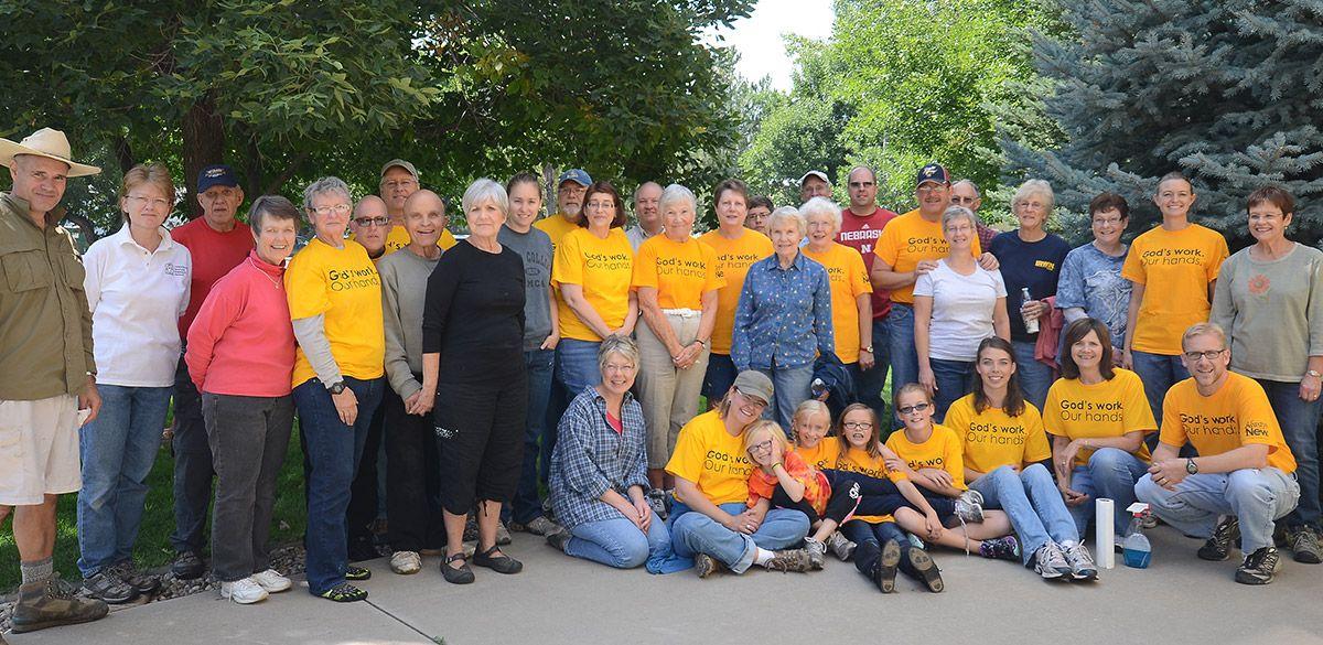 group volunteering effort