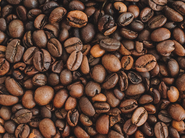 An image of freshly roasted coffee beans