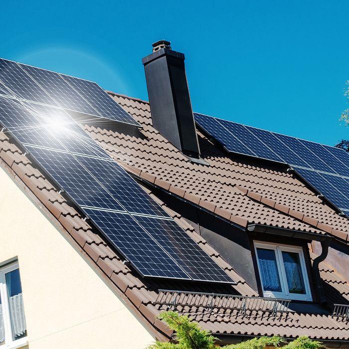 A home using solar power.