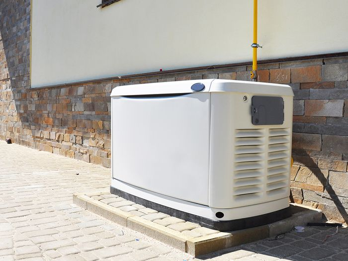 A residential power generator.