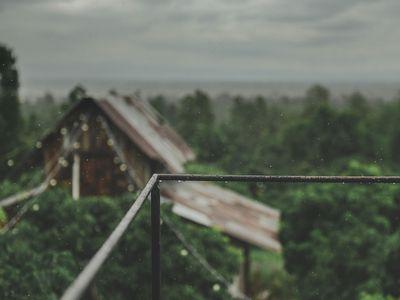 Raining in a barn