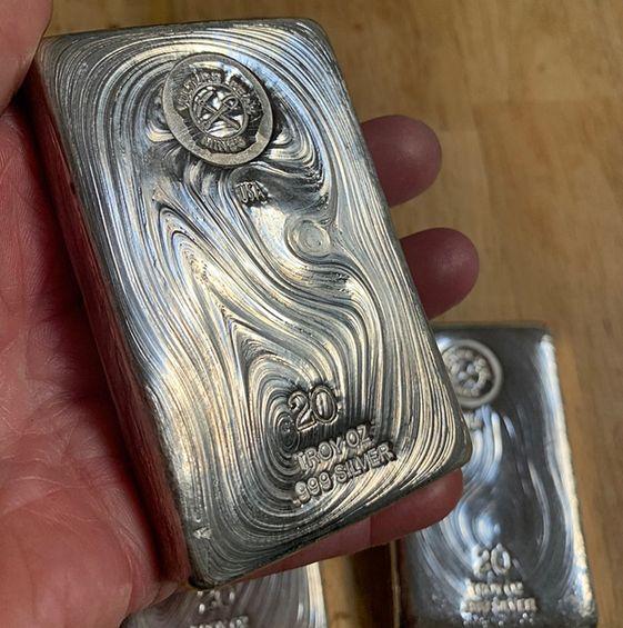 20 Tr Oz Poured Silver Bar