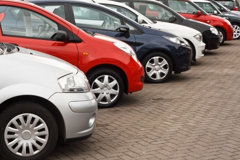 image of a line up of cars