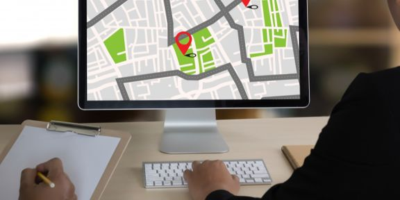 image of GPS on a computer