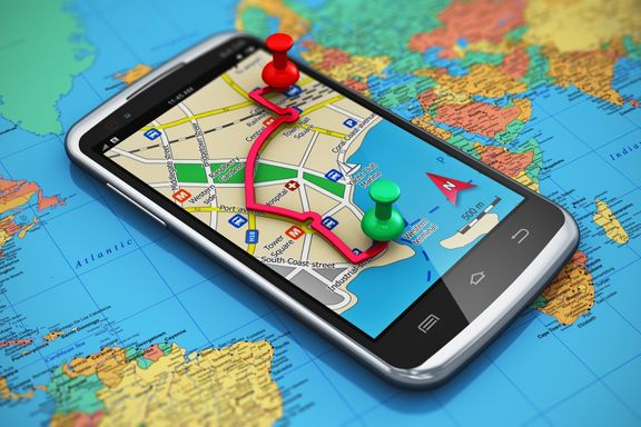 image of GPS on a phone