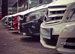 Picture of a line up of cars
