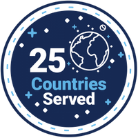 25 Countries Served Badge
