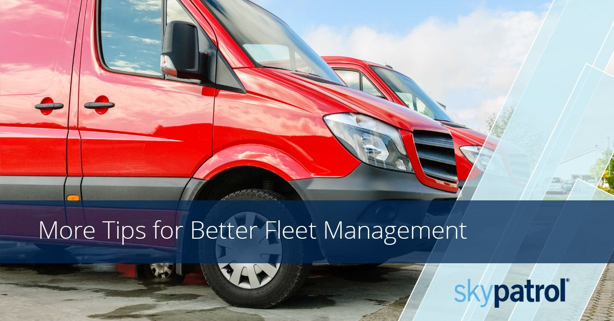 image of red fleet vans