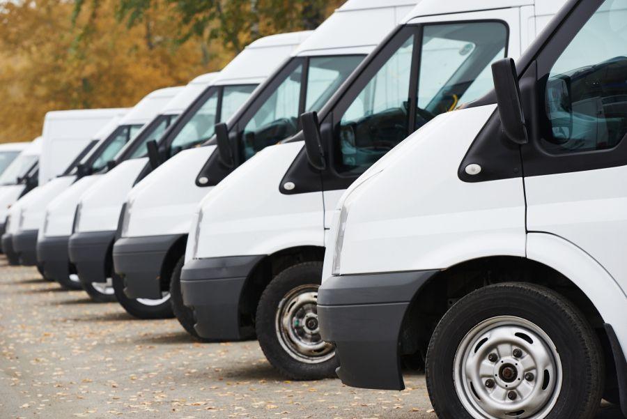 image of a fleet of vans