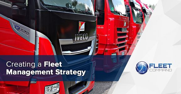 image of a fleet of semi trucks