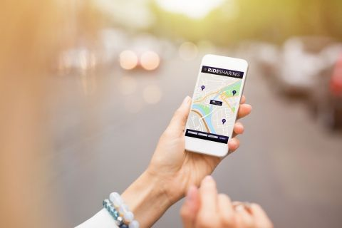 image of a person using GPS on a phone