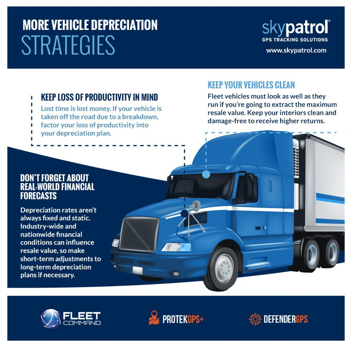 infograph about trucking