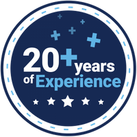 20 Years of Experience Trust Badge