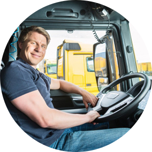 Image of man driving a truck