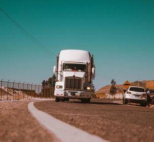 image of a semi truck